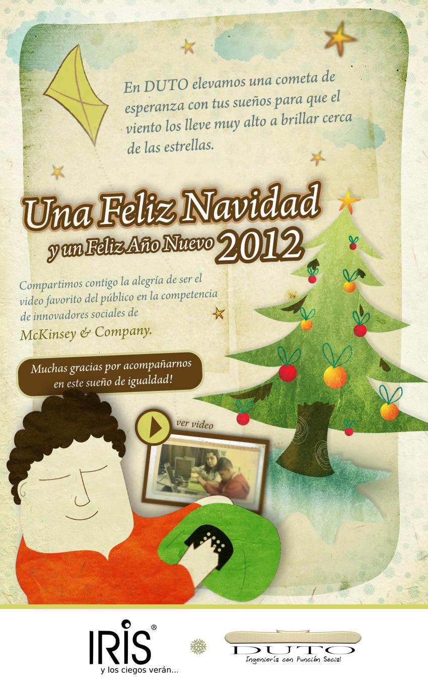 Tarjeta de Navidad DUTO S.A.