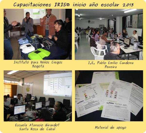 Capacitaciones IRIS® inicio año escolar 2013
